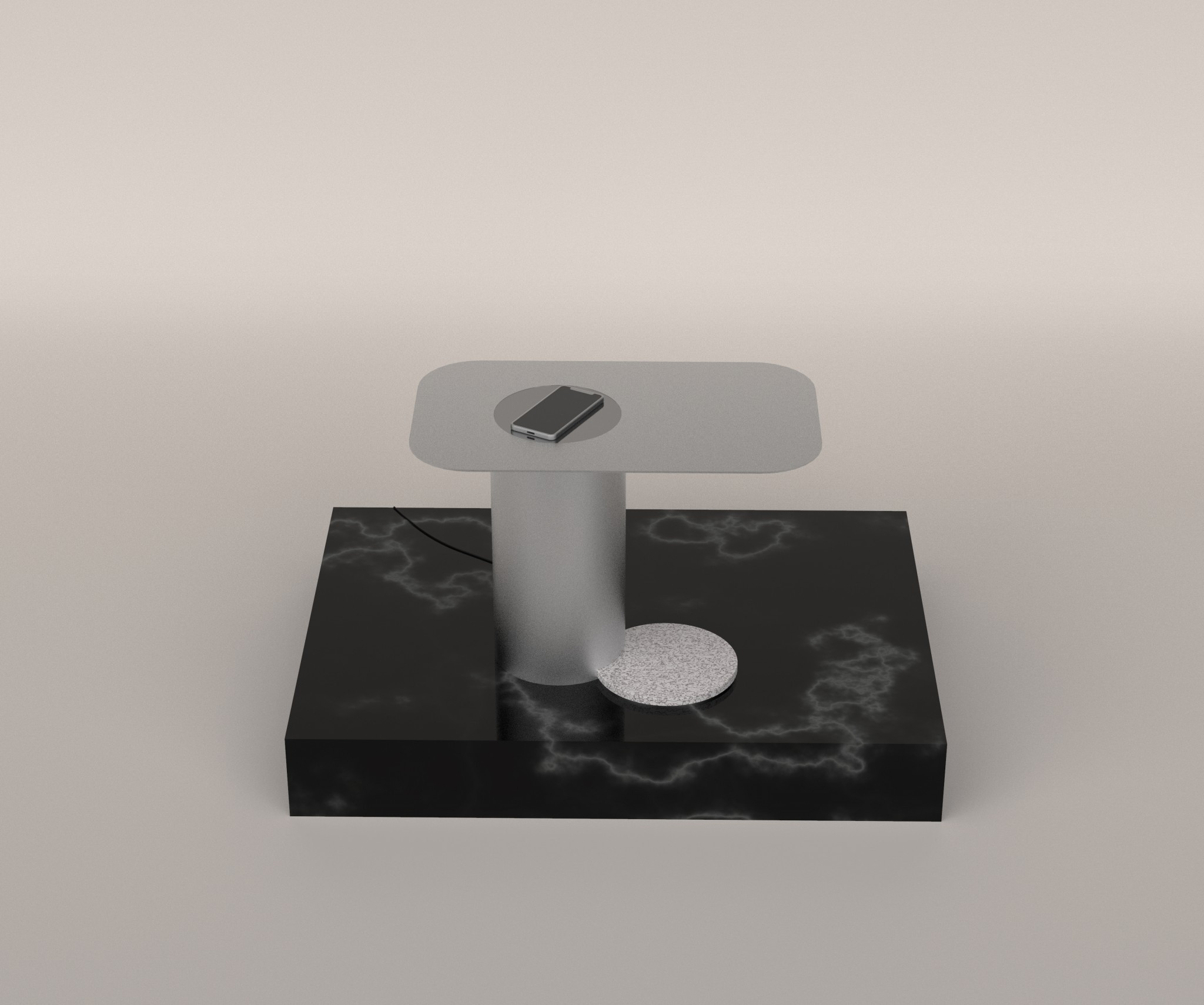 Ob 02 wireless charge side table
